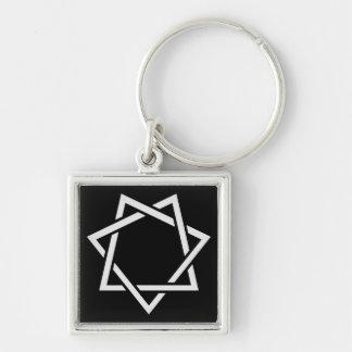 Estrella señalada siete llavero personalizado