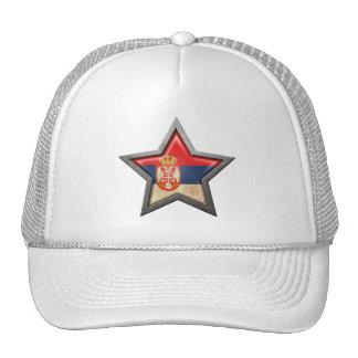 Estrella servia de la bandera gorras de camionero