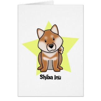 Estrella Shiba Inu de Kawaii Felicitacion