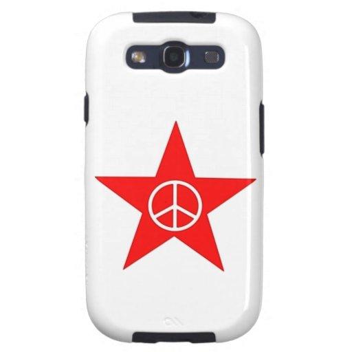 Estrella signo de paz star peace sign galaxy SIII cobertura