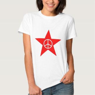 Estrella signo de paz star peace sign remera