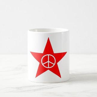Estrella signo de paz star peace sign taza