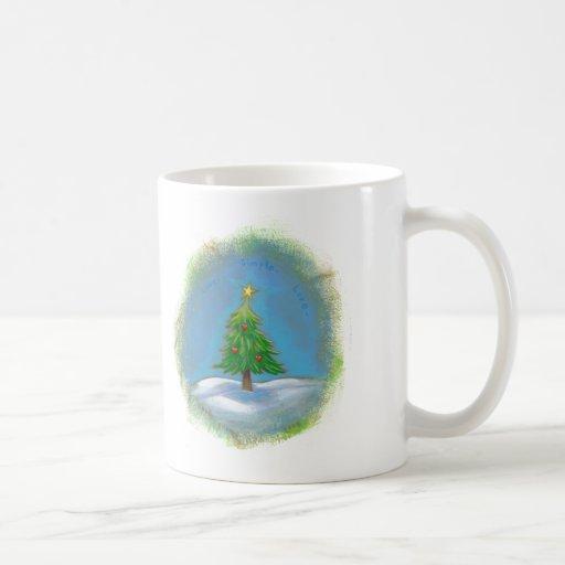 Estrella simple de los amores del arte del árbol d tazas de café