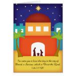 Estrella sobre natividad del navidad de Belén Felicitación