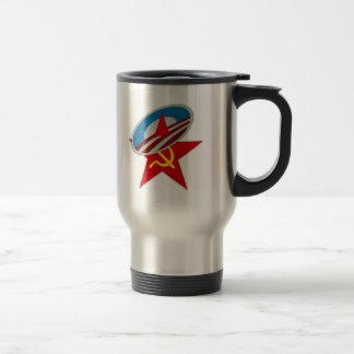 Estrella socialista del símbolo de Obama Taza Térmica