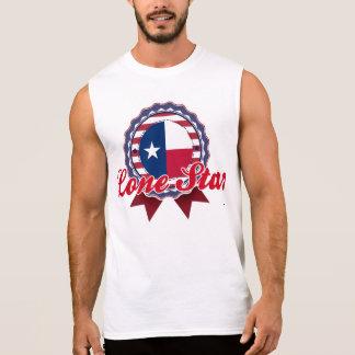 Estrella solitaria, TX Camisetas