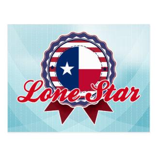 Estrella solitaria, TX Tarjetas Postales