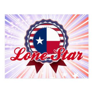 Estrella solitaria, TX Tarjeta Postal