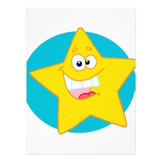 estrella sonriente feliz linda del dibujo animado comunicado