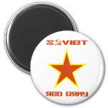 Estrella soviética 2 del ejército rojo imanes