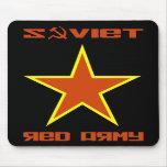 Estrella soviética 2 del ejército rojo tapetes de ratones