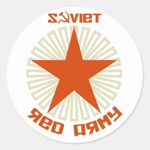 Estrella soviética del ejército rojo etiqueta