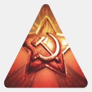 Estrella soviética pegatina trianguladas personalizadas