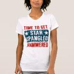 Estrella Spangled martillada Camisetas