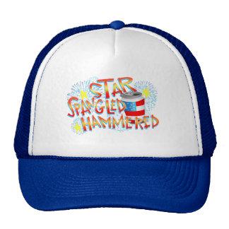 Estrella Spangled martillada el 4 de julio Gorros