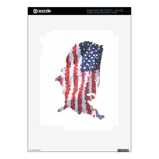 Estrella Spangled Pegatinas Skins Para iPad 3