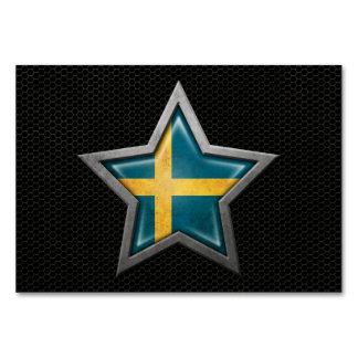 Estrella sueca de la bandera con el efecto de acer