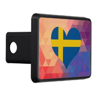 Estrella sueca de la bandera en Bokeh colorido Tapa De Tráiler