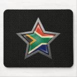 Estrella surafricana de la bandera con el efecto d tapete de raton
