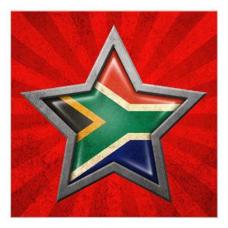 Estrella surafricana de la bandera con los rayos d invitación