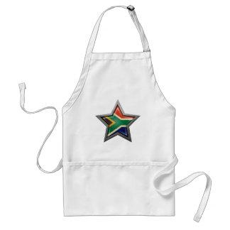 Estrella surafricana de la bandera delantal