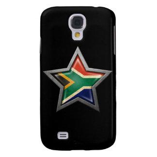 Estrella surafricana de la bandera en negro funda para galaxy s4