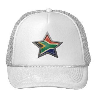 Estrella surafricana de la bandera gorro