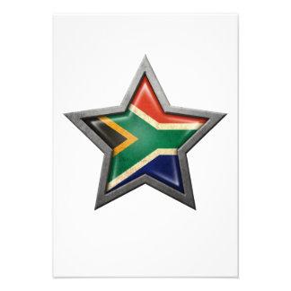 Estrella surafricana de la bandera invitacion personalizada