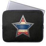 Estrella tailandesa de la bandera con el efecto de mangas portátiles