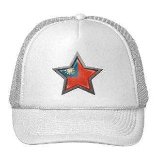Estrella taiwanesa de la bandera gorro de camionero