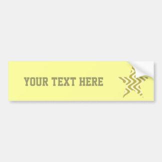 Estrella temblorosa de las ondas (amarillas/amaril pegatina para auto