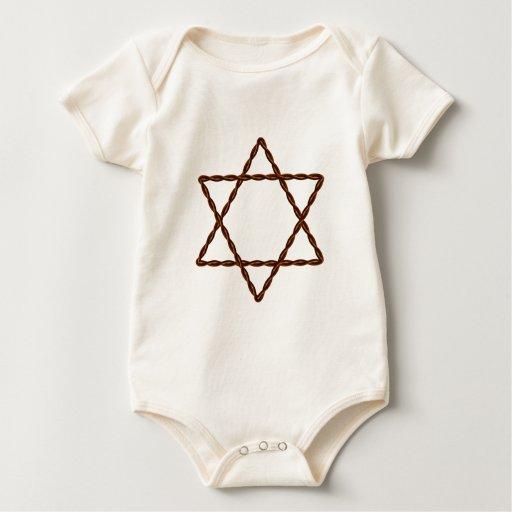 Estrella torcida del alambre de David Body Para Bebé