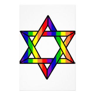 Estrella traslapada del arco iris Zazzle.png de Papeleria De Diseño