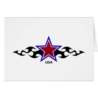 Estrella tribal americana tarjeta
