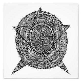 Estrella tribal cojinete