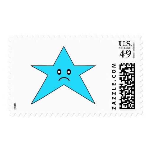 Estrella triste azul sellos