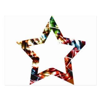 Estrella V5 - Serie cósmica roja chispeante Tarjetas Postales