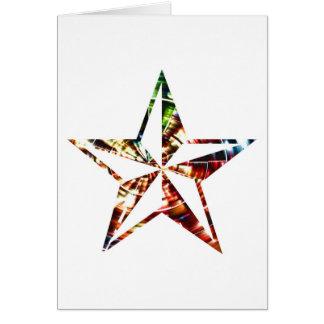 Estrella V6 - Rojo de la chispa Tarjeta De Felicitación