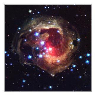 Estrella variable roja de V838 Monocerotis V838 lu Fotografías