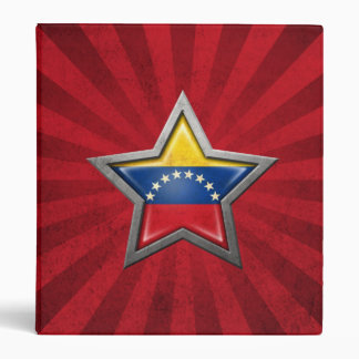Estrella venezolana de la bandera con los rayos de