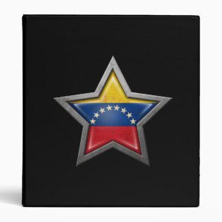 Estrella venezolana de la bandera en negro