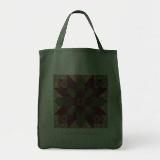 Estrella verde acolchada de Borgoña Bolsas