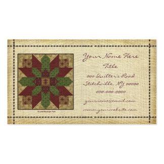 Estrella verde acolchada de Borgoña Tarjetas De Visita