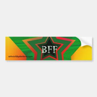 Estrella verde BFF Pegatina Para Auto