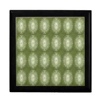 Estrella verde cajas de recuerdo