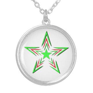 estrella verde colgante redondo