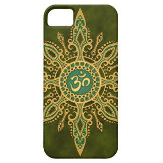 Estrella verde de oro de Aum iPhone 5 Funda