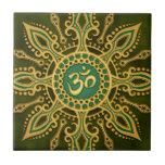 Estrella verde de oro de Aum Teja Ceramica