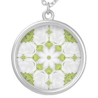 Estrella verde del caleidoscopio colgante redondo