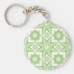 Estrella verde llavero personalizado